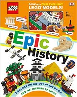 EPIC HISTORY OF LEGO BOOK W/4 MODELS