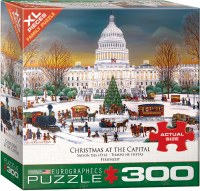 EUROGRAPHIC PUZZLE 300pc XMAS AT CAPITOL