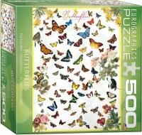 EUROGRAPHIC PUZZLE  500PC BUTTERFLIES