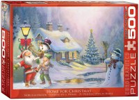 EUROGRAPHIC PUZZLE  500PC HOME FOR XMAS