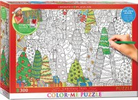 EUROGRAPHIC PUZZLE COLOR ME XMAS TREES