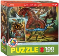 EUROGRAPHICS PUZZLE 100PC DINOSAURS