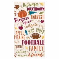 FALL WORDS GUEST TOWELS 16ct