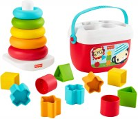 FISHER PRICE BABY'S GIFTSET BLOCKS/ROCK