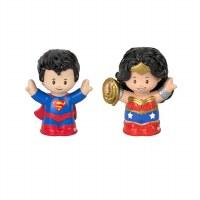 FP LITTLE PEOPLE SUPERMAN & WONDER WOMAN