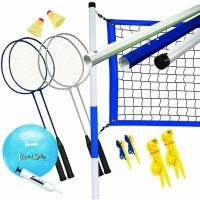 FRANKLIN BADMINTON  VOLLEYBALL SET REC