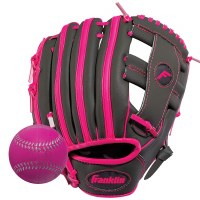 FRANKLIN FIELDER'S GLOVE W/BALL PINK