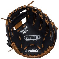 "FRANKLIN GLOVE 9.5"" W/BALL TAN LH"