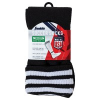 FRANKLIN SOCCER SOCKS BLACK/WHITE LARGE