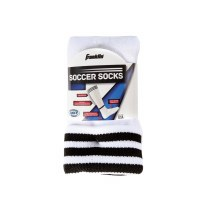 FRANKLIN SOCCER SOCKS WHITE/BK LARGE