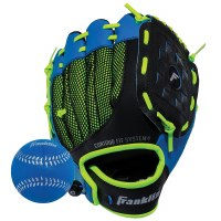 FRANKLIN T-BALL GLOVE BLUE/GREEN 9""