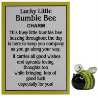 LUCKY LITTLE BUMBLE BEE CHARM WITH CARD
