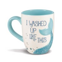 GRASSLANDS MUG I WASHED UP MERMAID