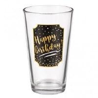 GRASSLANDS RD PINT GLASS HAPPY BIRTHDAY