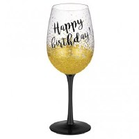 GRASSLANDS RD WINE GLASS HAPPY BIRTHDAY