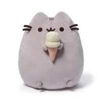"GUND PUSHEEN 9.5""   ICE CREAM CONE PLUSH"