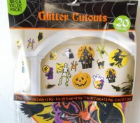 HALLOWEEN GLITTER CUTOUTS VALUE PACK