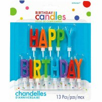 HAPPY BIRTHDAY LETTER CANDLES PRIMARY