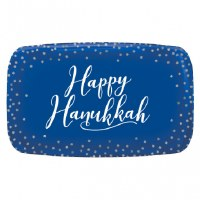 "HAPPY HANUKKAH PLATTER 11"" X 18"""