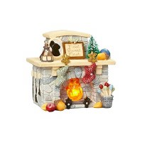 HEART OF XMAS FIREPLACE LIGHTED