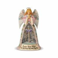 HEARTWOOD CREEK ANGEL W/CROSS DIORAMA