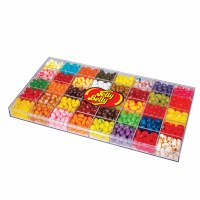 JELLY BELLY 2LB 40 FLAVOR CLEAR BOX