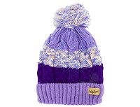 KID'S PLUSH KNIT HAT LAVENDAR/PURPLE