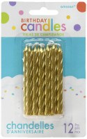 LARGE SPIRAL CANDLES GOLD