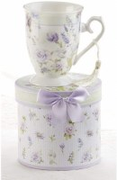 LAVENDER ROSE MUG IN HATBOX