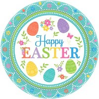 """LOVELY EASTER 7"""" PLATES 8ct"""