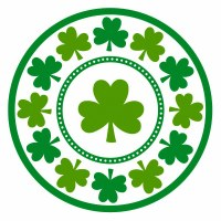 "LUCKY SHAMROCKS 7"" PLATES 8ct"