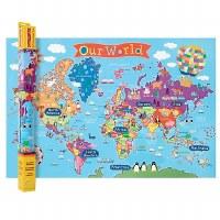 "KID'S WORLD WALL MAP 24"" X 36"""
