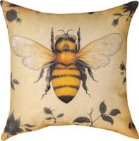 """MANUAL PILLOW BEE 18"""" X 18"""""""
