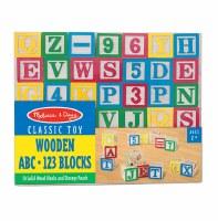 MELISSA & DOUG WOOD ABC/123 BLOCKS