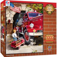 1000PC PUZZLE HOMETOWN HEROES FIREHOUSE