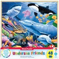 48PC WOODEN PUZZLE UNDERSEA FRIENDS