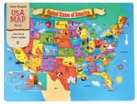 44PC WOODEN PUZZLE USA MAP