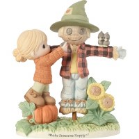 P/M GIRL WITH SCARECROW FIGURINE