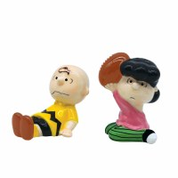 PEANUTS CHARLIE & LUCY SALT/PEPPER SET