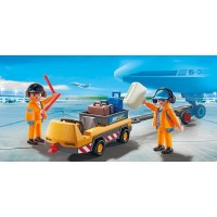 PLAYMOBIL AIRCRAFT TUG W/GROUND CREW