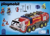 PLAYMOBIL AIRPORT FIRE ENGINE W/LIGHTS