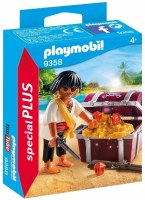 PLAYMOBIL  PIRATE WITH CHEST