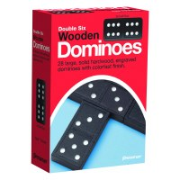 PRESSMAN DOUBLE 6 WOODEN DOMINOES