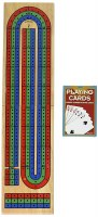 PRESSMAN SOLID WOOD CRIBBAGE BOARD SET