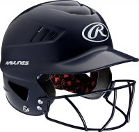 RAWLINGS COOLFLO HELMET W/MASK NAVY