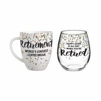 RETIRMENT MUG & GLASS SET