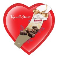 RUSSELL STOVER CANDY RED FOIL HEART 14OZ