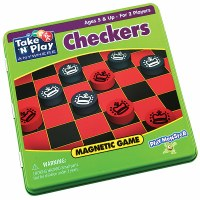 TAKE 'N PLAY CHECKERS MAGNETIC