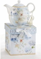 TEA FOR 1 SET BLUE BUTTERFLY