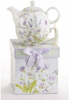 TEA FOR 1 SET LAVENDAR ROSE
